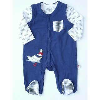 Salt and Pepper Jungen Longsleeves Strampler Set