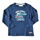 Salt and Pepper Jungen Longsleeve Traktor 116/122  navy