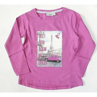 Salt and Pepper Mädchen Langarmshirt Paris Neu
