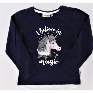 Salt and Pepper Mädchen Langarmshirt Pailletten Unicorn