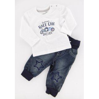 Salt and Pepper Jungen Longsleeve/ Hose Jeans Set