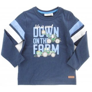 Salt and Pepper Jungen Longsleeve Traktor 104/110