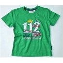 Salt and Pepper Jungen T-Shirt Feuerwehr 104/110 green mel.