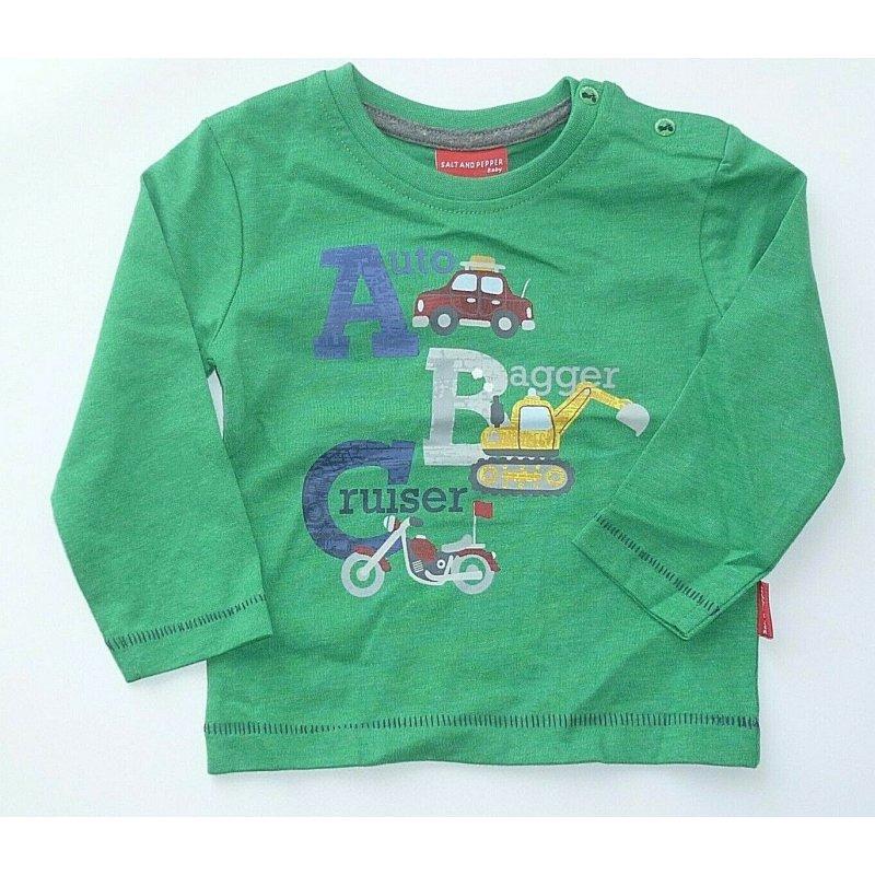 SALT AND PEPPER Baby-Jungen Mit Schaumprint und Bagger Stickerei T-Shirt